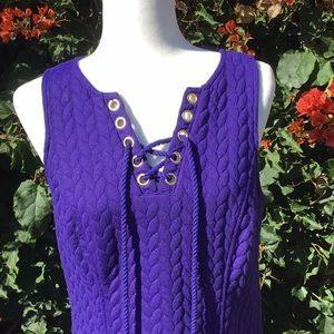 Kensie Dresses - Purple Lace Tie Dress